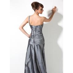 Enkel Taft En skuldret A-formet/Prinsesse Kjoler til Brudens Mor (008006082)