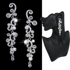 Earrings Alloy/Rhinestones Pierced Ladies' Pretty Wedding & Party Jewelry