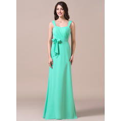 Sweetheart Sheath/Column Chiffon Sleeveless Bridesmaid Dresses (007198794)