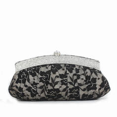 Clutches Wedding/Ceremony & Party Lace Clip Closure Gorgeous Clutches & Evening Bags