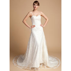 Princess General Plus Sweetheart A-Line/Princess Lace Wedding Dresses (002196887)