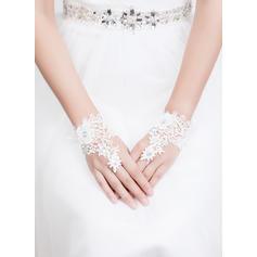 Lace Ladies' Gloves Wrist Length Bridal Gloves Fingerless Gloves