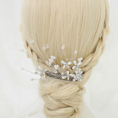 """Combs & Barrettes Wedding/Special Occasion/Party Rhinestone/Alloy/Imitation Pearls 5.31""""(Approx.13.5cm) 3.15""""(Approx.8cm) Headpieces"""
