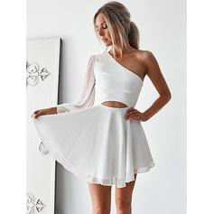 pictures of white cocktail dresses