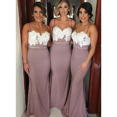 Bridesmaid Dresses Sweetheart Satin A-Line/Princess Sleeveless Floor-Length (007211573)