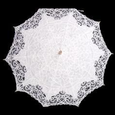 Bröllops Paraplyer Bridal Parasoller Kvinnor Wedding Krokhandtag Bröllops Paraplyer