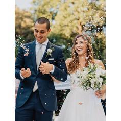 robes de mariée profond v cou