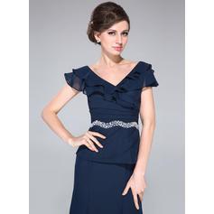 Corte A/Princesa Fuera del hombro Gasa Moda Vestidos de madrina (008210523)