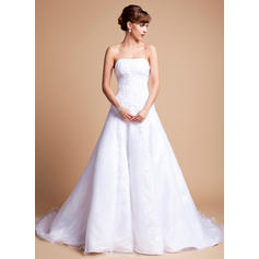 Delicate General Plus Sweetheart A-Line/Princess Satin Organza Wedding Dresses