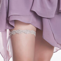 Garters Women/Bridal Wedding/Special Occasion Tulle/Ribbons With Rhinestone/Alloy Garter