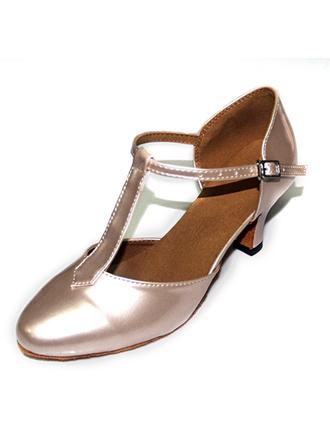Women's Ballroom Pumps Patent Leather With T-Strap Dance Shoes