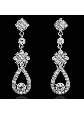 Earrings Rhinestones Pierced Ladies' Elegant Wedding & Party Jewelry