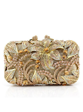 Clutches Wedding/Ceremony & Party Crystal/ Rhinestone/Alloy Clip Closure Attractive Clutches & Evening Bags (012188167)