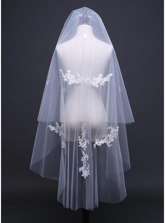 Einschichtig Schnittkante Walzer Braut Schleier