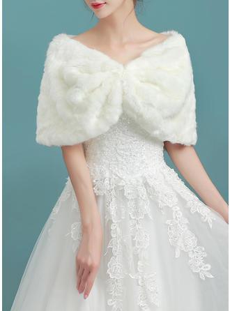 Wrap Wedding Faux Fur Ivory Wraps