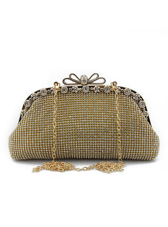 Wristlets Wedding/Ceremony & Party Crystal/ Rhinestone Clip Closure Shining Clutches & Evening Bags