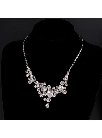 Necklaces Alloy/Rhinestones Lobster Clasp Ladies' Gorgeous Wedding & Party Jewelry