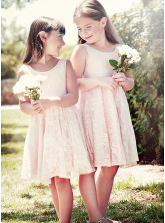 Lace A-Line/Princess 2019 New Flower Girl Dresses