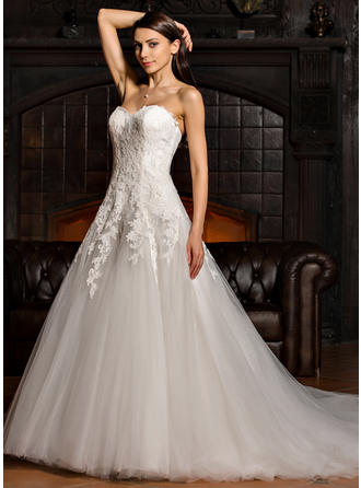 Tulle Lace Ball-Gown Stunning Wedding Dresses