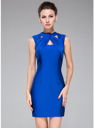 Elegant Jersey Sleeveless Sheath/Column Cocktail Dresses