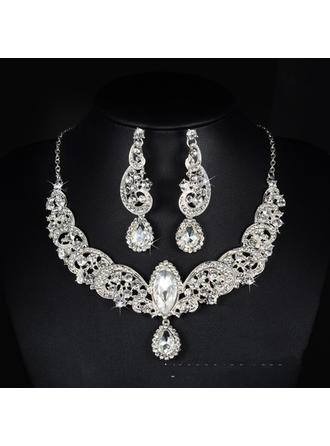 Jewelry Sets Alloy/Rhinestones Lobster Clasp Pierced Ladies' Wedding & Party Jewelry (011167247)