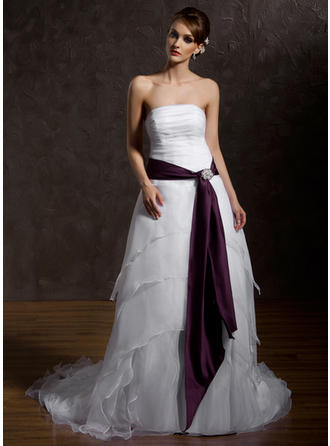 Women Satin With Beading Sash Simple Sashes & Belts