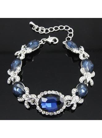 "Bracelets Alloy/Rhinestones Ladies' Beautiful 7.48""-9.45""(Approx.19cm-24cm) Wedding & Party Jewelry"