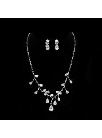 Jewelry Sets Alloy/Rhinestones Cubic Zirconia Ladies' Elegant Wedding & Party Jewelry (011168185)