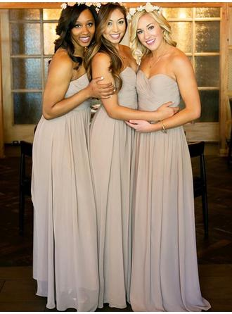 A-Line/Princess Sweetheart Floor-Length Bridesmaid Dresses With Ruffle (007212235)