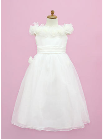 Delicate Off-the-Shoulder A-Line/Princess Organza/Satin Flower Girl Dresses