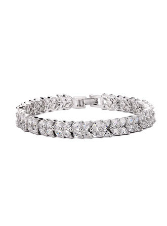 "Bracelets Copper/Zircon/Platinum Plated Ladies' Fancy 7.48""(Approx.19cm) Wedding & Party Jewelry"