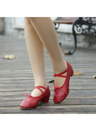 Women's Ballet Real Leather Dance Shoes