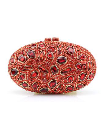 Clutches/Wristlets Wedding/Ceremony & Party/Casual & Shopping Acrylic/PU Magnetic Closure Attractive Clutches & Evening Bags