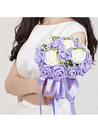 "Bridal Bouquets Hand-tied Wedding/Party Ribbon/Poly Ethylene 10.24""(Approx.26cm) Wedding Flowers (123188757)"