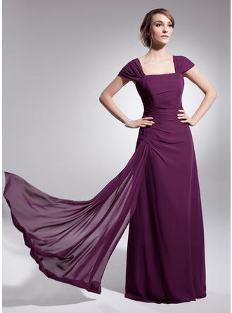 A-Line/Princess Square Neckline Floor-Length Mother of the Bride Dresses With Ruffle