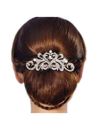 "Combs & Barrettes Wedding/Casual/Party/Art photography Rhinestone 3.74""(Approx.9.5cm) 2.36""(Approx.6cm) Headpieces"