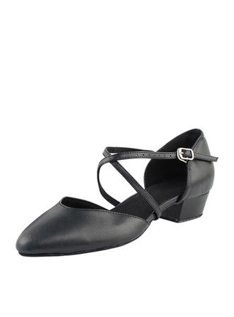 Women's Ballroom Swing Heels Leatherette Dance Shoes