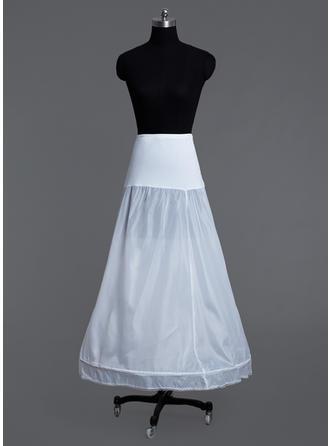 Petticoats Floor-length Lycra A-Line Slip/Full Gown Slip 1 Tiers Petticoats