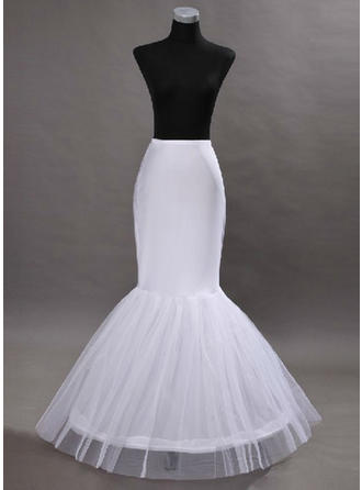 Bustle Floor-length Tulle Netting/Satin Full Gown Slip 2 Tiers Petticoats (037190840)