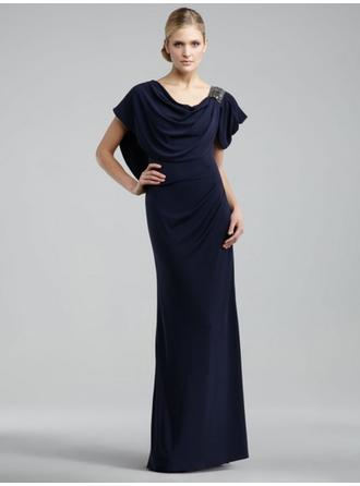 Scoop Neck Floor-Length Mother of the Bride Dresses
