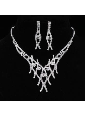 Элегантные сплав/Стразы с горный хрусталь женские Комплекты ювелирных изделий