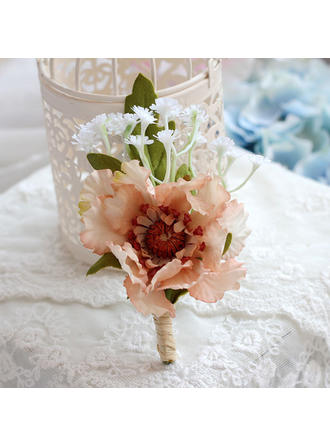 "Boutonniere Wedding 4.33""(Approx.11cm) The color of embellishments are shown as picture/Color & Style representation may vary by monitor/Not responsible for typographical or pictorial errors. Lovely Wedding Flowers"