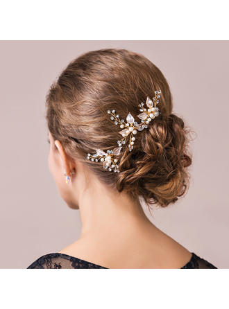 "Hairpins Wedding/Special Occasion/Party Imitation Pearls/Czech Stones 2.17""(Approx.5.5cm) 1.77""(Approx.4.5cm) Headpieces"