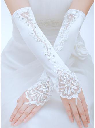 Satin Ladies' Gloves Opera Length Bridal Gloves Fingerless Gloves