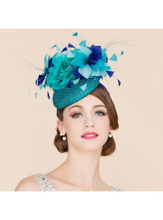 Cambric With Silk Flower Fascinators Charming Ladies' Hats
