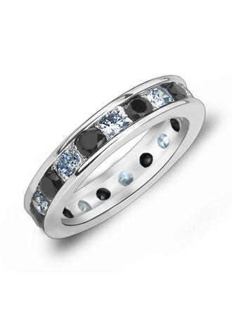 Rings Zircon/Platinum Plated Ladies' Simple Wedding & Party Jewelry
