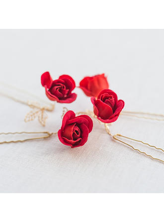 "Hairpins Wedding/Special Occasion/Casual/Outdoor/Party Alloy/Silk Flower 4.33""(Approx.11cm) 1.97""(Approx.5cm) Headpieces"