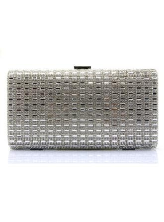 Clutches/Wristlets Wedding/Ceremony & Party/Casual & Shopping Acrylic/PU Clip Closure Classical Clutches & Evening Bags