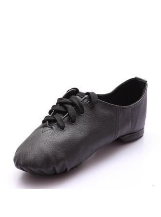 Unisex Jazz Real Leather Dance Shoes