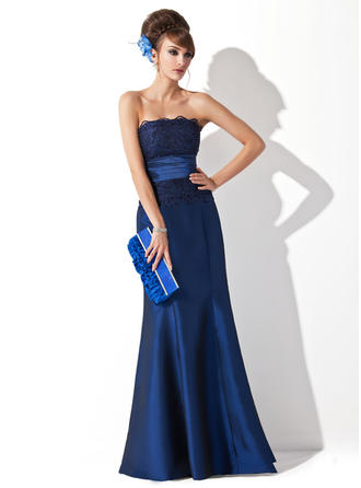 Trumpet/Mermaid Strapless Floor-Length Evening Dresses With Ruffle